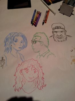 Sketches at Macaroni Grill by PumpkinJack6