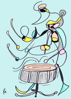 The Snare Drum Player by polylerus