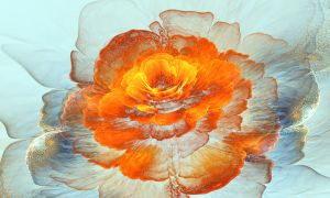 Orange watercolor. by Kondratij