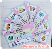 Dango Dewdrop Business Cards by MidnightSukioma