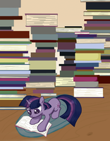In Twilight's Study by QuintessantRiver