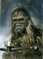 Chewbacca Sketch Card ACEO by Stungeon