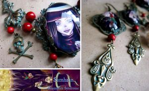 Samhain necklace and earrings by Verope