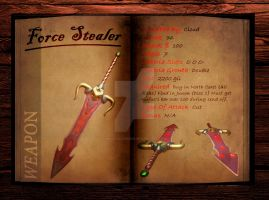 Final Fantasy 7 weapon book (Force Stealer) by Hellfalcon666