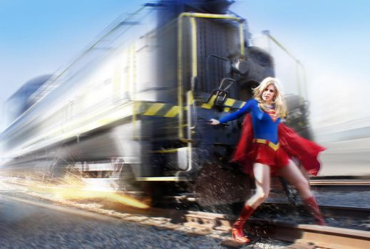 Supergirl In Action by DNM5555