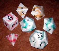 origami dice set by enricap