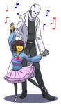 Dancing With Uncle Gaster - Redo by Noire73