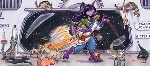 space-cat herder by not-fun
