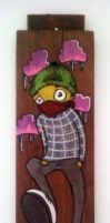 Painting on recycle wood by RicardOder