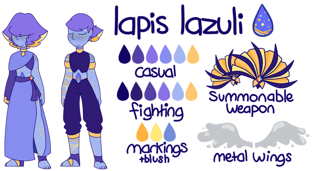OLD Lapis Lazuli ref sheet by TheSketchling