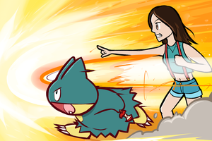 Lalida and Munchlax by ishmam