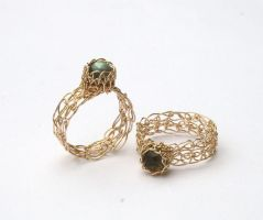 Handmade Wire Crochet Rings by WrappedbyDesign