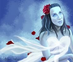 Frozen Rose by arietes