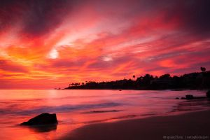 Like a fire over the horizon by isotophoto