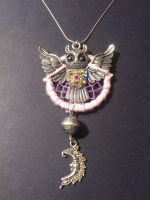 dreamcatcher necklace, owl theme by Vision4LifeCro