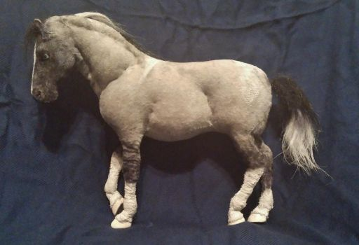 Posable Grey Paint Horse Plush by SabrePanther
