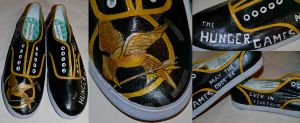 Hunger Games shoes by aarontheawesome