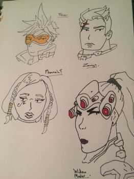 Overwatch doodles part 2 by SoularWolf4