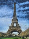 Eiffel Tower Drawing by VoDooClown