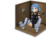 Mio Sensei locked away in a crate by imoutoid
