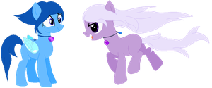 Amethyst and Lapis 'sonas by Hollowolfpup