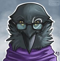 Bespectacled birb by Key-Feathers