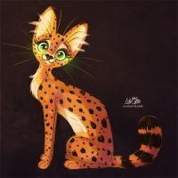 Serval by LilaCattis