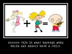 Arnold and Helga's child by Wolfman580