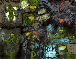 Halo Masterchief comic colored by Willatorx