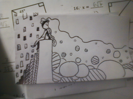 Note card math doodle by PixelNuggets
