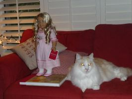 A cat, A doll, and Bart Simpsons by Kataang102