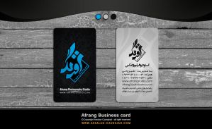 Afrang studio business card by arsalan casneja by arsalan-design