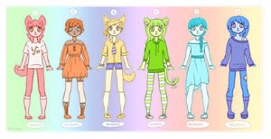 Rainbow Adoptables 6 [OPEN] by wick-y