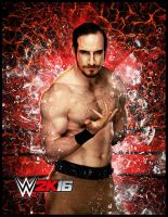 WWE 2K16 Aiden English Character Art by ThexRealxBanks