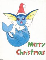 Christmas Vaporeon by SMS00