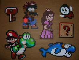 Mario bros beaded goodguys 2 by zaghrenaut