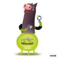 PIGGY BANK CHARACTER by weirdink