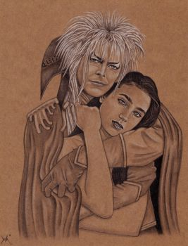 Jareth and Sarah by BloodyVoodoo