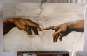 Creation of Adam - study by ElsaKroese