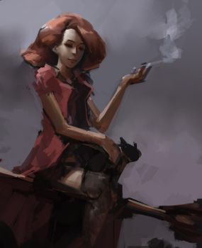 Smoking and Witchcraft by ChocolateKnife