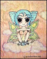 Chibi Fairy by grayscalerainbowww