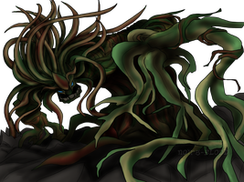 Plant Woman - Monster form by Noir-fox5