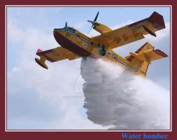 Water Bomber by painting-with-light
