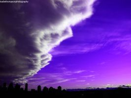 A purple haze over Calgary. by kdblzn