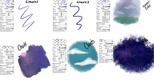 Sai brush settings by Wickiup