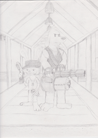 Sam and Max in 2Fort :Sketch: by StrongBrush1