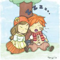 Fritz and Minori Sleeping by Forever-A-Sunflower