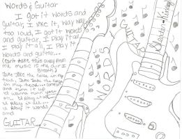 Words and Guitar by Bink-A-Dot