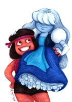 Ruby and Sapphire by msciuto