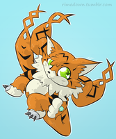 Meicoomon - Day 1218 by Seracfrost